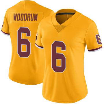 Women's Nike Washington Redskins Josh Woodrum Gold Color Rush Jersey - Limited
