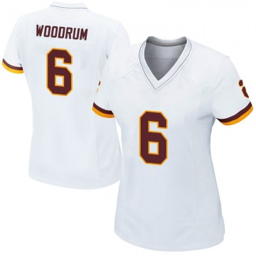 Women's Nike Washington Redskins Josh Woodrum White Jersey - Game