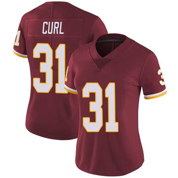 Women's Nike Washington Redskins Kamren Curl Burgundy Team Color Vapor Untouchable Jersey - Limited
