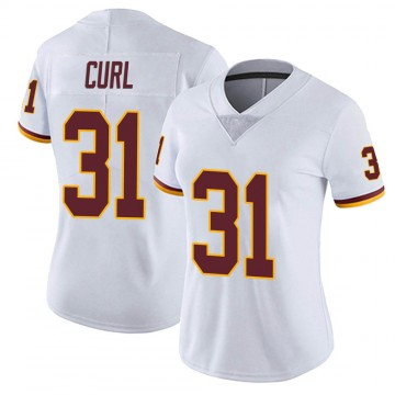 Women's Nike Washington Redskins Kamren Curl White Vapor Untouchable Jersey - Limited