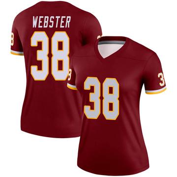 Women's Nike Washington Redskins Kayvon Webster Burgundy Jersey - Legend