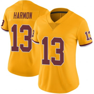 Women's Nike Washington Redskins Kelvin Harmon Gold Color Rush Jersey - Limited