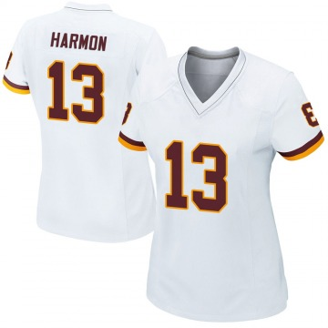 Women's Nike Washington Redskins Kelvin Harmon White Jersey - Game