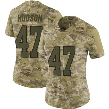 Women's Nike Washington Redskins Khaleke Hudson Camo 2018 Salute to Service Jersey - Limited