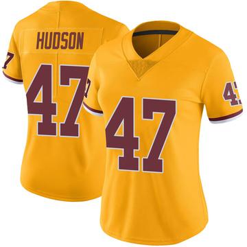 Women's Nike Washington Redskins Khaleke Hudson Gold Color Rush Jersey - Limited