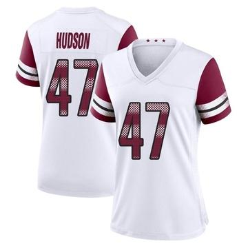 Women's Nike Washington Redskins Khaleke Hudson White Jersey - Game