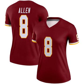 Women's Nike Washington Redskins Kyle Allen Burgundy Jersey - Legend