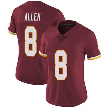 Women's Nike Washington Redskins Kyle Allen Burgundy Team Color Vapor Untouchable Jersey - Limited