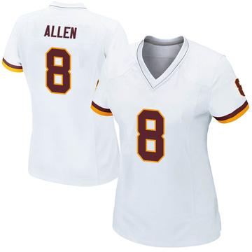 Women's Nike Washington Redskins Kyle Allen White Jersey - Game
