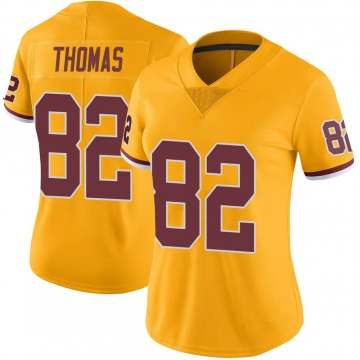 Women's Nike Washington Redskins Logan Thomas Gold Color Rush Jersey - Limited
