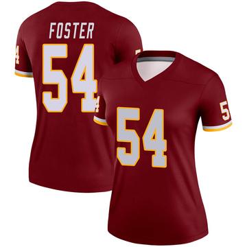 Women's Nike Washington Redskins Mason Foster Burgundy Jersey - Legend