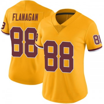 Women's Nike Washington Redskins Matt Flanagan Gold Color Rush Jersey - Limited