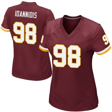 Women's Nike Washington Redskins Matt Ioannidis Burgundy Team Color Jersey - Game