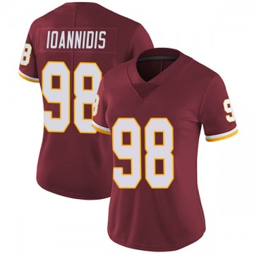 Women's Nike Washington Redskins Matt Ioannidis Burgundy Team Color Vapor Untouchable Jersey - Limited