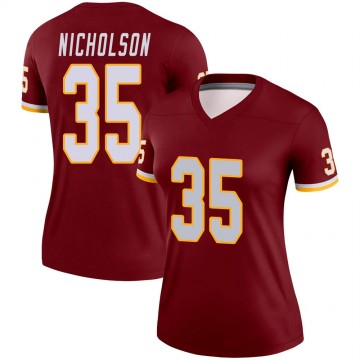 Women's Nike Washington Redskins Montae Nicholson Burgundy Jersey - Legend