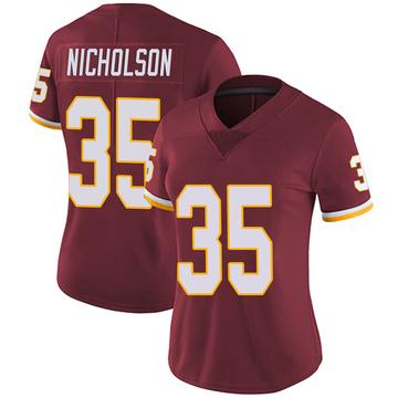 Women's Nike Washington Redskins Montae Nicholson Burgundy Team Color Vapor Untouchable Jersey - Limited