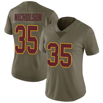Women's Nike Washington Redskins Montae Nicholson Green 2017 Salute to Service Jersey - Limited