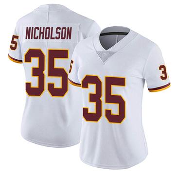 Women's Nike Washington Redskins Montae Nicholson White Vapor Untouchable Jersey - Limited