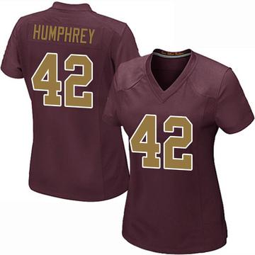 Women's Nike Washington Redskins Myles Humphrey Burgundy Alternate Jersey - Game