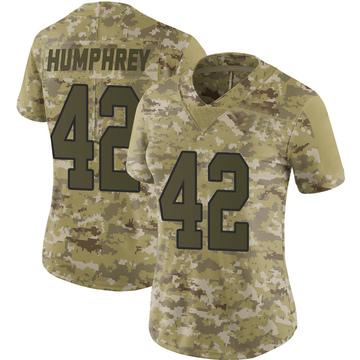 Women's Nike Washington Redskins Myles Humphrey Camo 2018 Salute to Service Jersey - Limited