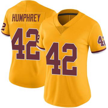 Women's Nike Washington Redskins Myles Humphrey Gold Color Rush Jersey - Limited