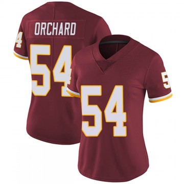 Women's Nike Washington Redskins Nate Orchard Burgundy 100th Vapor Jersey - Limited