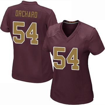 Women's Nike Washington Redskins Nate Orchard Burgundy Alternate Jersey - Game