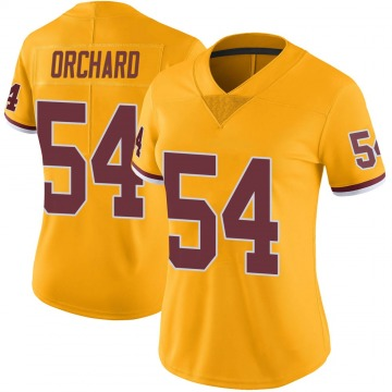 Women's Nike Washington Redskins Nate Orchard Gold Color Rush Jersey - Limited