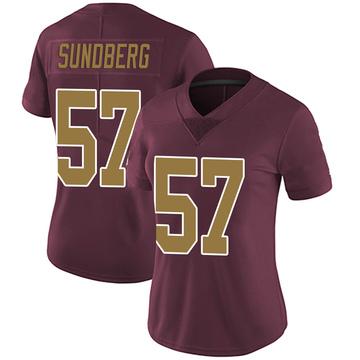 Women's Nike Washington Redskins Nick Sundberg Burgundy Alternate Vapor Untouchable Jersey - Limited