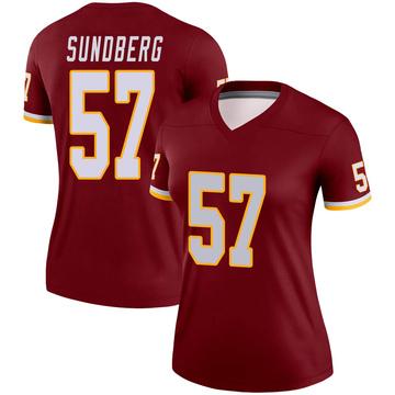 Women's Nike Washington Redskins Nick Sundberg Burgundy Jersey - Legend