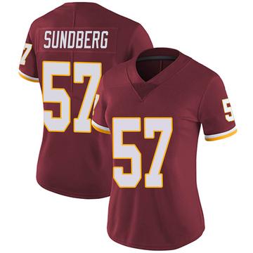 Women's Nike Washington Redskins Nick Sundberg Burgundy Team Color Vapor Untouchable Jersey - Limited