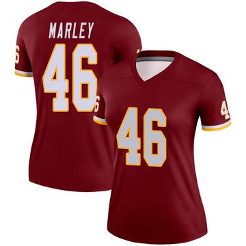 Women's Nike Washington Redskins Nico Marley Burgundy Jersey - Legend
