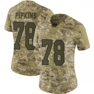 Women's Nike Washington Redskins Ondre Pipkins Camo 2018 Salute to Service Jersey - Limited