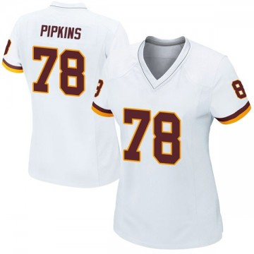 Women's Nike Washington Redskins Ondre Pipkins White Jersey - Game