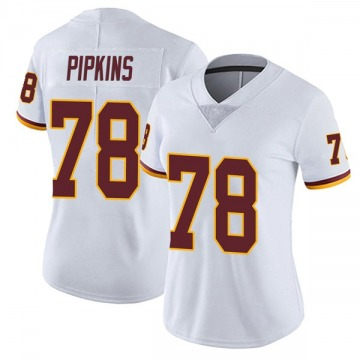 Women's Nike Washington Redskins Ondre Pipkins White Vapor Untouchable Jersey - Limited
