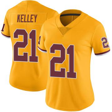 Women's Nike Washington Redskins Rob Kelley Gold Color Rush Jersey - Limited