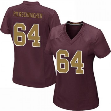 Women's Nike Washington Redskins Ross Pierschbacher Burgundy Alternate Jersey - Game