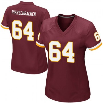 Women's Nike Washington Redskins Ross Pierschbacher Burgundy Team Color Jersey - Game