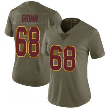 Women's Nike Washington Redskins Russ Grimm Green 2017 Salute to Service Jersey - Limited