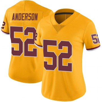Women's Nike Washington Redskins Ryan Anderson Gold Color Rush Jersey - Limited