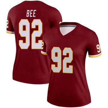 Women's Nike Washington Redskins Ryan Bee Burgundy Jersey - Legend