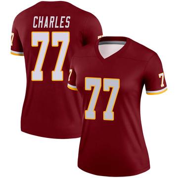 Women's Nike Washington Redskins Saahdiq Charles Burgundy Jersey - Legend