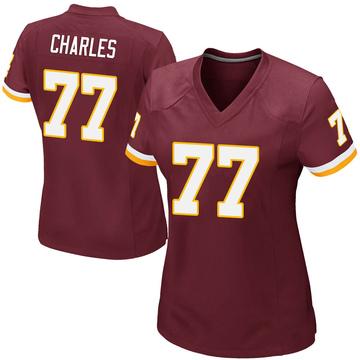 Women's Nike Washington Redskins Saahdiq Charles Burgundy Team Color Jersey - Game
