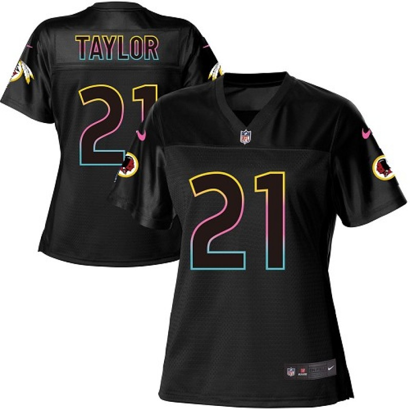 watch 8c884 29e90 Women's Nike Washington Redskins Sean Taylor Black Fashion Jersey - Game