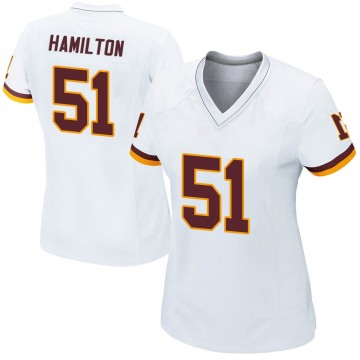 Women's Nike Washington Redskins Shaun Dion Hamilton White Jersey - Game