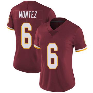 Women's Nike Washington Redskins Steven Montez Burgundy Team Color Vapor Untouchable Jersey - Limited