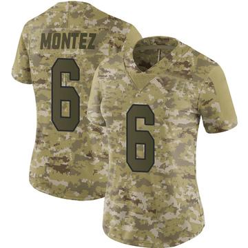 Women's Nike Washington Redskins Steven Montez Camo 2018 Salute to Service Jersey - Limited