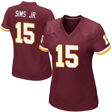 Women's Nike Washington Redskins Steven Sims Jr. Burgundy Team Color Jersey - Game