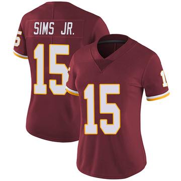 Women's Nike Washington Redskins Steven Sims Jr. Burgundy Team Color Vapor Untouchable Jersey - Limited