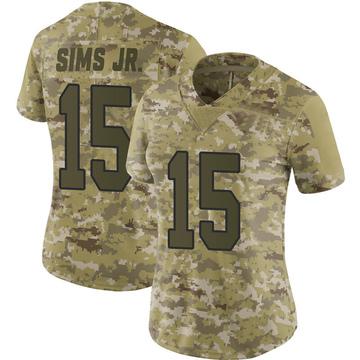 Women's Nike Washington Redskins Steven Sims Jr. Camo 2018 Salute to Service Jersey - Limited